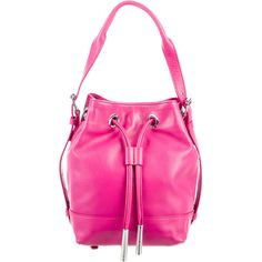 Pre-owned Opening Ceremony Izzy Convertible Backpack ($195) ❤ liked on Polyvore featuring bags, backpacks, pink, leather drawstring backpack, drawstring bag, opening ceremony, pink leather backpack and real leather backpack