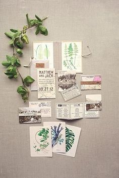 Botanical invitation suite http://www.refinery29.com/martha-stewart-weddings/1?crlt.pid=camp.87Jkez6qXyvN&utm_content=buffera6816&utm_medium=social&utm_source=pinterest.com&utm_campaign=buffer#slide-1