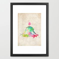 Meditation Exercise №1 Framed Art Print