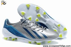 huge selection of cc39c a6043 Latest Listing Adidas adizero Metallic TRX FG Leather in Silver Blue White  Football Boots On Sale