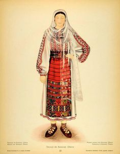 Romanati, Oltenia (Wallachia) Folk Embroidery, Learn Embroidery, Embroidery Ideas, Popular Costumes, Medieval Clothing, Antique Quilts, Free Black, Folk Costume, Embroidery Techniques