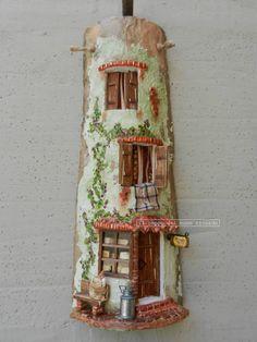 Caseificio Tegole antiche decorate e dipinte a mano. http://www.coppobuonricordo.it/