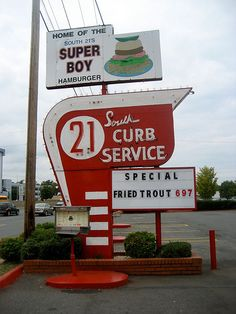 South 21 Drive In Restaurant / Charlotte, NC. Mom ad Dad used to go her when they dated, and take us there as kids...