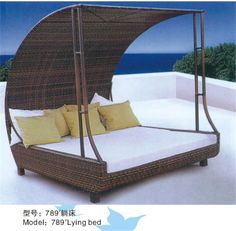 ML-D1 used hotel pool furniture rattan double sun lounger beds $85~$400