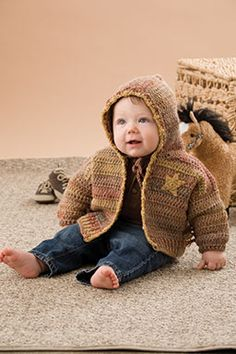 Baby Boy Sheriff - intermediate (sizes 3 months to 12 months - free pdf instructions) All Free Crochet, Crochet For Boys, Easy Crochet, Crochet Hoodie, Crochet Baby Cardigan, Fingerless Gloves Crochet Pattern, Toddler Boy Outfits, Baby Outfits, Baby Sweaters