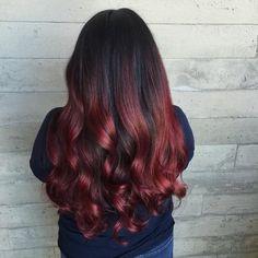 30 Stunning Ideas Of Black Hair With Highlights [August, Black Hair With Red Highlights, Hair Highlights, Modern Boy Haircuts, Natural Hair Styles, Long Hair Styles, Dye My Hair, Gray Hair, Hair Colour, Hairdos