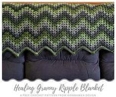 The Healing Granny Ripple Blanket, uses a granny stitch to create a zigzag fabric. To make this blanket you will need Medium Weight Yarn [4] and a 6 mm (J) hook. I have included multiple sizes for this pattern.
