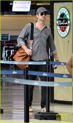 Gerard Butler spotted at Grantley Adams International Airport, Barbados on Sept 2nd 2013