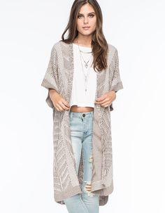 0c7161204b6e GYPSIES   MOONDUST Linear Womens Poncho Cardigan 267777413