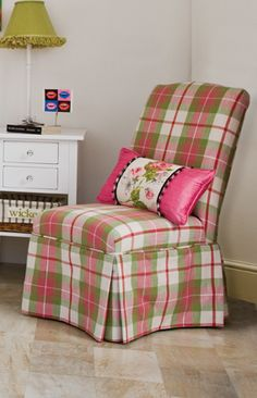 bedroom chair - styled for childrens room Need different fabric