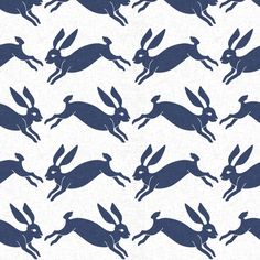 delft_rabbit_linen fabric by holli_zollinger on Spoonflower - custom fabric