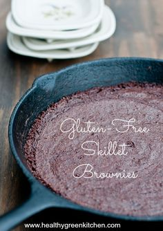 Gluten-Free Skillet Brownies from Healthy Green Kitchen