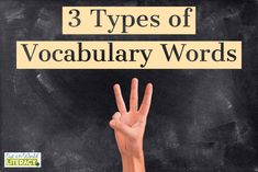 3 Types of Vocabular