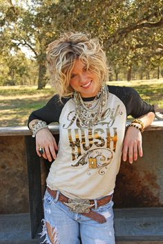 HONEY HUSH 3/4 RAGLAN - Junk GYpSy co.