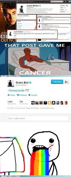 not making fun of JB but  i cant believe he is a brony and Drake Bell is a brony they are now 20% cooler