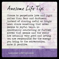 Awesome Life Tip: Bring Positive Energy to Conversation >> www.awesomelifetips.com
