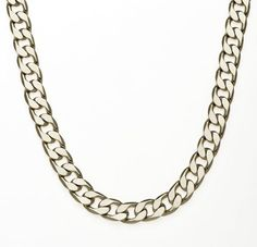 df13c2c7570 Simon Frank Designs 7mm 30-inch Cuban Silver Overlay Necklace