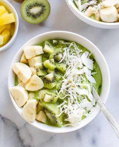 Green smoothies bowls exotique ©Instagram repéré sur Ergogenics / recette minceur / healthy food