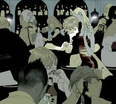 so much emotion...and yet, barely any faces. Tomer Hanuka