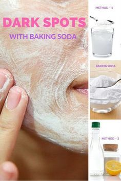 Here are the best and most effective ways of using baking soda to get rid of dark spots.:
