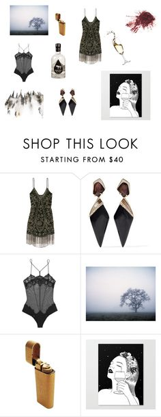 """""""You left me"""" by golden-golightly ❤ liked on Polyvore featuring Haute Hippie, Alexis Bittar and La Perla"""