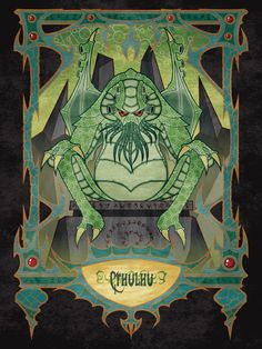 Lovecraftian bestiary for kids: Cthulhu by Teos Ulanti on ArtStation. Lovecraft Cthulhu, Hp Lovecraft, Call Of Cthulhu Rpg, Lovecraftian Horror, Eldritch Horror, Creepy Pictures, Scary Art, Lord, Horror Art