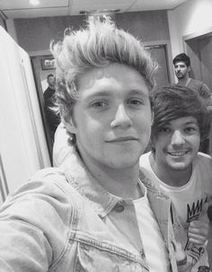 Niall & Louis // backstage at BGT (5.31.15)