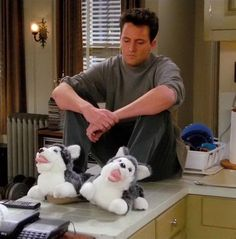 """You know what they say-ask your slippers a question...you're going crazy."" Ah, Chandler Bing."