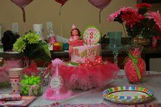 Pink ballerina-themed birthday cake