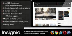 Insignia is a clean and flexible #WordPress theme based on a powerfull framework intended for #magazine or community style layouts. $35,00
