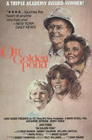 Katheryn Hepburn- Henry Fonda-Jane Fonda,An aging couple, Ethel and Norman Thayer, spends each summer at their cottage on a lake called Golden Pond. They are visited by daughter Chelsea, who is somewhat estranged from her curmudgeon of a father. Chelsea introduces them to her new fiance, Bill, and asks the Thayers to permit Bill's young son Billy to stay with them while she and Bill have some time to themselves. ...a must see! worth every Oscar it won.