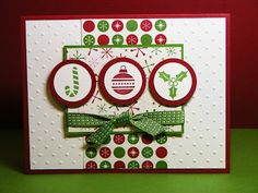 So cute and clever use of candy cane and holly