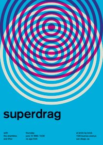 Rock shows re-imagined as swiss design posters. A project after my own heart.