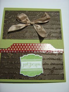 A gift card holder made with Stampin' Up! envelope punch board.