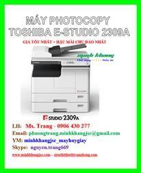 Máy photocopy Toshiba estudio 2309a giá rẻ tháng 04/2017