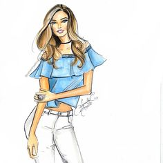 Summer fashion! Follow fashion illustrator @samanthaeforsyth on instagram for more fashion illustration sketches! Be Inspirational ❥|Mz. Manerz: Being well dressed is a beautiful form of confidence, happiness & politeness