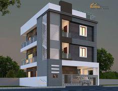 House Outer Design, Best Modern House Design, Modern Exterior House Designs, House Front Design, Small House Design, 3 Storey House Design, Bungalow House Design, West Facing House, Architect Design House