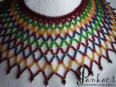 Galéria Beadwork, Beading, Bead Weaving, Cape, Diy And Crafts, Beaded Necklace, Inspiration, Jewelry, Fashion