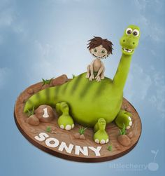 The Good Dinosaur - Cake by Little Cherry - CakesDecor