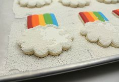 POPCORN COOKIES ♥ Rainbow White Color Design Art Food Pretty Beautiful Colorful Fashion ♥ oreos cookies
