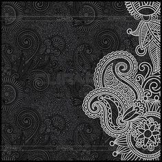 black and white floral graphics - Google Search