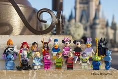 "Disney minifigs! Disney minifigs! This full series of Disney characters -- shrunk down into Lego minifugres -- will arrive May 1, featuring two Pixar characters making their first appearance as minifigs: Mr. Incredible and Syndrome from ""The Incredibles."""