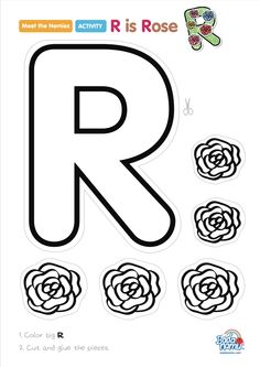 'R is Rose' craft! A whole craft series to go with our Meet the Nemies video series available at badanamu.com. Enjoy!