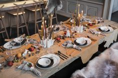 Christmas table 2013 by Thomas Rode and his wife Thilde Maarbjerg Christmas Love, Christmas Traditions, Tis The Season, Tablescapes, Table Settings, Inspiration, Showroom, Centerpieces, Decor