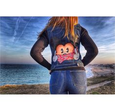 Hand painted vest Rude Mickey @expressmade