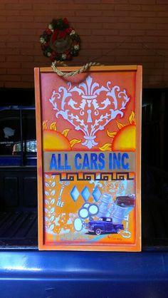 Pintura decorativa, stencil y decoupage en caja en MDF