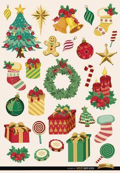 28 elementos de la Navidad y objetos