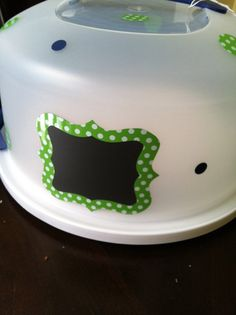 Cake Taker with Chalk Board by MelonHattie on Etsy
