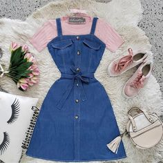 Girly Girl Outfits, Cute Lazy Outfits, Stylish Work Outfits, Retro Outfits, Modest Outfits, Classy Outfits, Cool Outfits, Girls Fashion Clothes, Teen Fashion Outfits