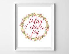 today I choose joy-free printable